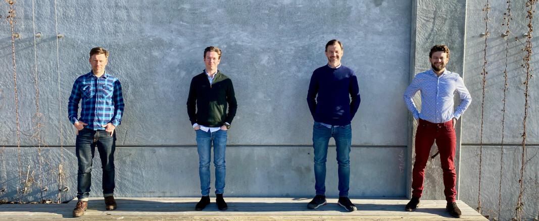 Martin Solli (t.v.), Krisoffer Almeland, Aslak Johansen og Nicolai Kirkeng Vennerød i nye Vilect.