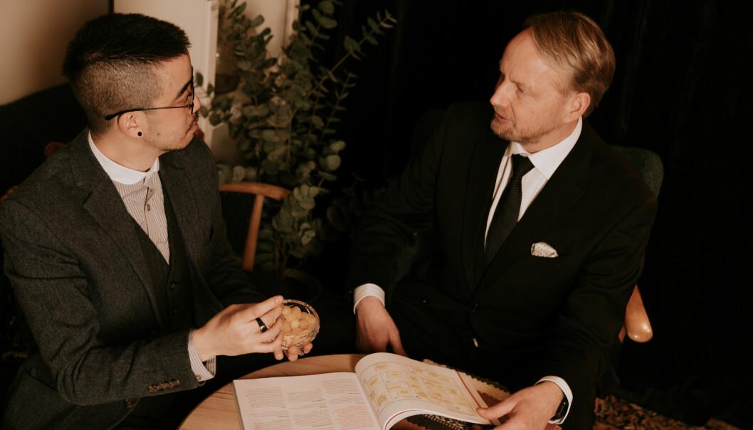 Creative director Edmond Yang og CEO Filip Elverhøy.