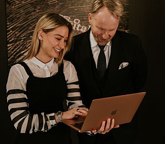 Head of social Natalia Barbin og CEO Filip Elverhøy.