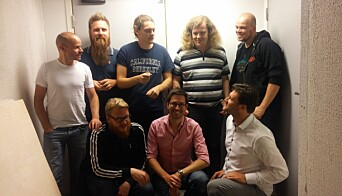 Teamet i Kick-Ass. Sverre Torp Solberg er nederst til venstre i adidasjakke.