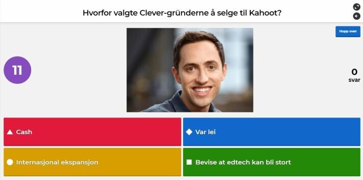 Derfor valgte Clever Kahoot