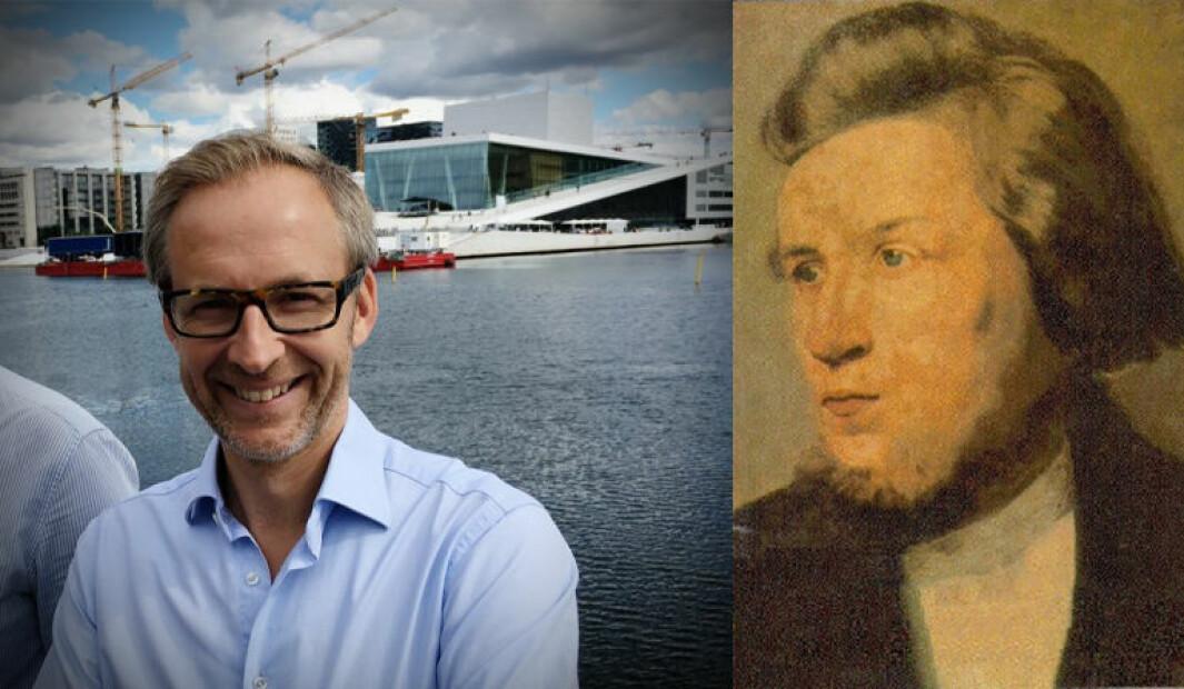 To gründere: Hermund Haaland og Hans Nielsen Hauge.