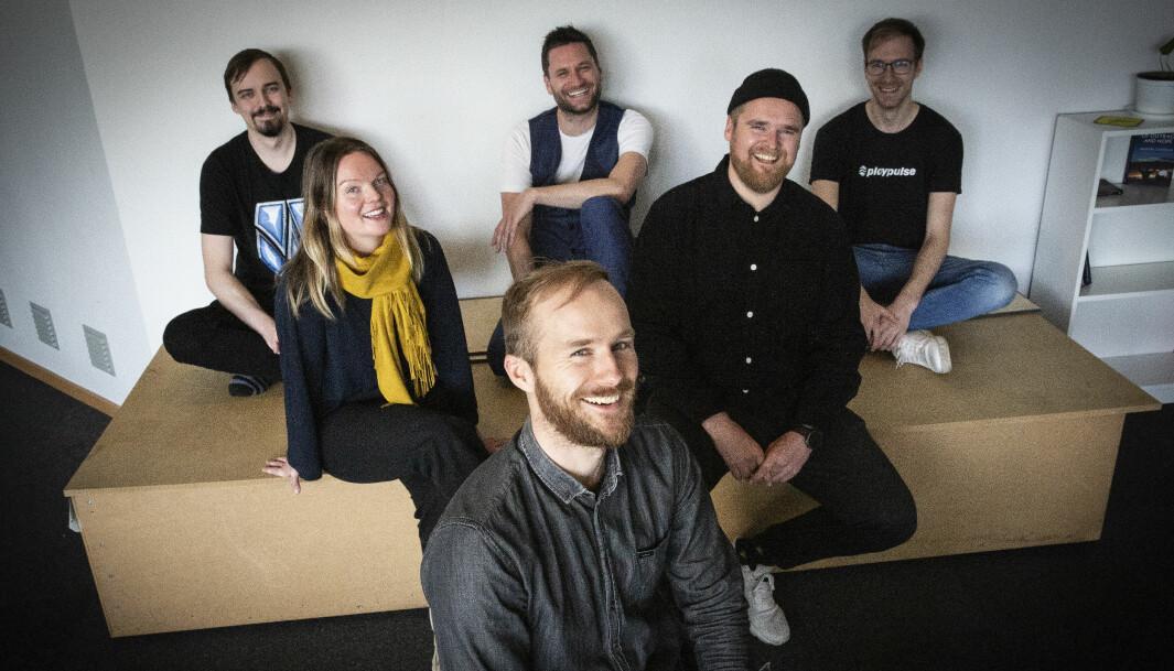 Playpulse-teamet har vokst det siste året. Gründer Erling Magnus Solheim i front.