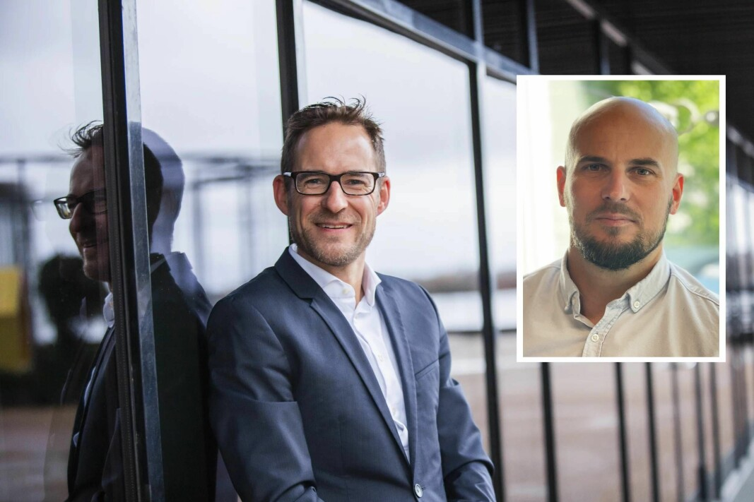 Danske Asgeir Hattel, daglig leder i Signicat og Johan Sörmling, daglig leder i Encap Security (innfelt).
