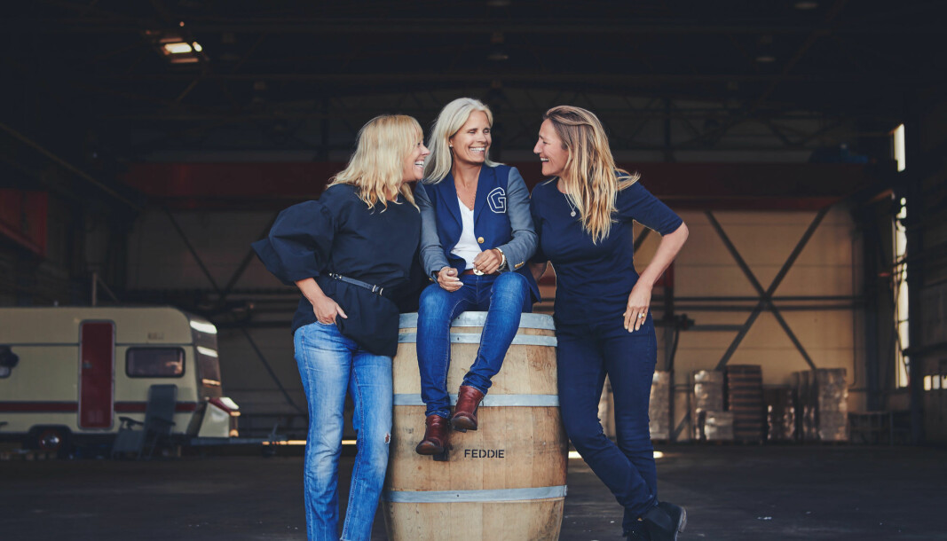 Anne Gro Gulla (t.v.) Camilla Andersson og Anne Koppang i Feddie, som går starter nettverket Young Sisters.