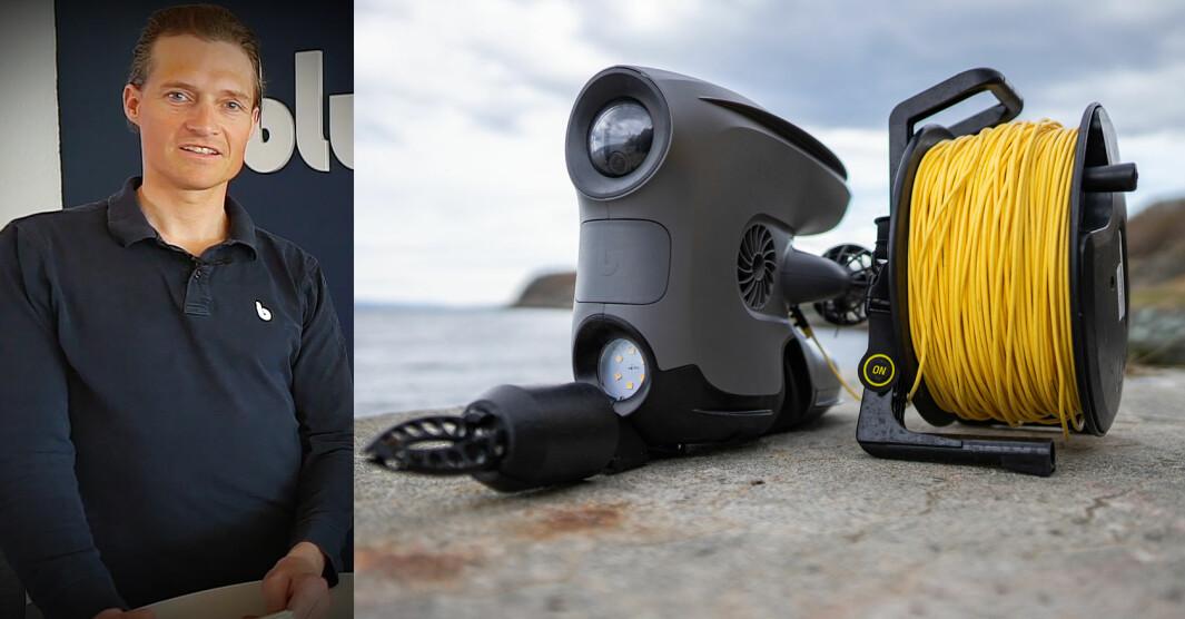 Christian Gabrielsen presenterte denne uka en helt ny utgave av Blueye-dronene, med navnet X3.