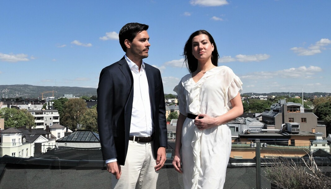 F.v. CFO Sondre Støyva og CEO Ieva Sibilla Strupule i Material Mapper.