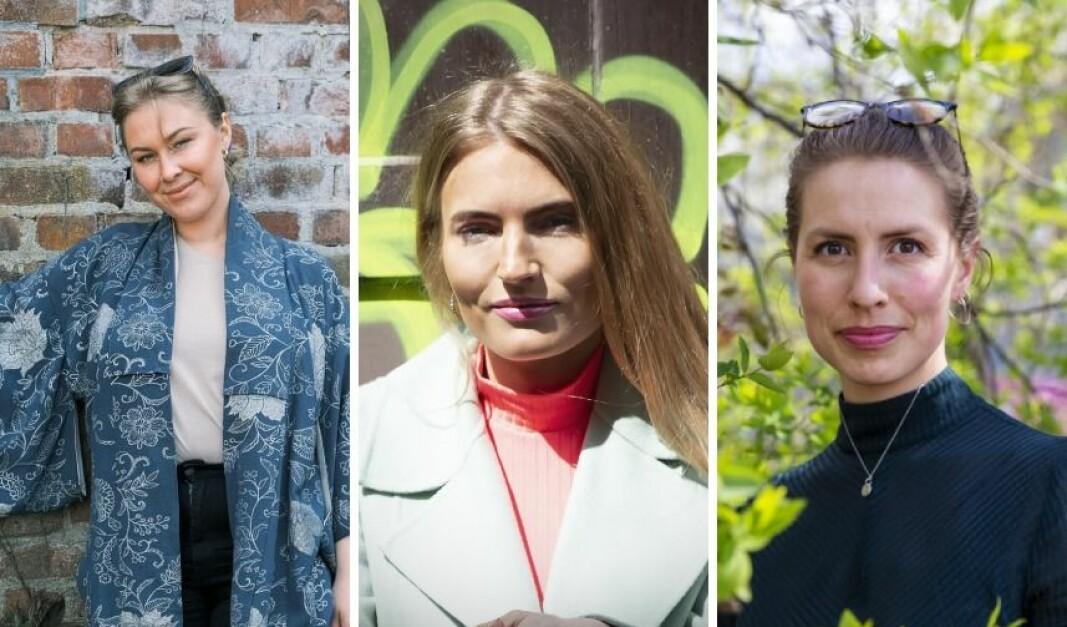 F.v. engleinvestorene Henriette Wulff, Isabelle Ringnes og Nina Heir.