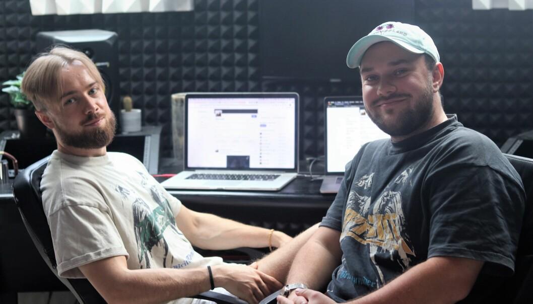 Finn Eriksrud (t.v) og Tim Terkelsen lagde seg en profil på BitCloud i begynnelsen av mai. Det har på kort tid gitt dem store verdier