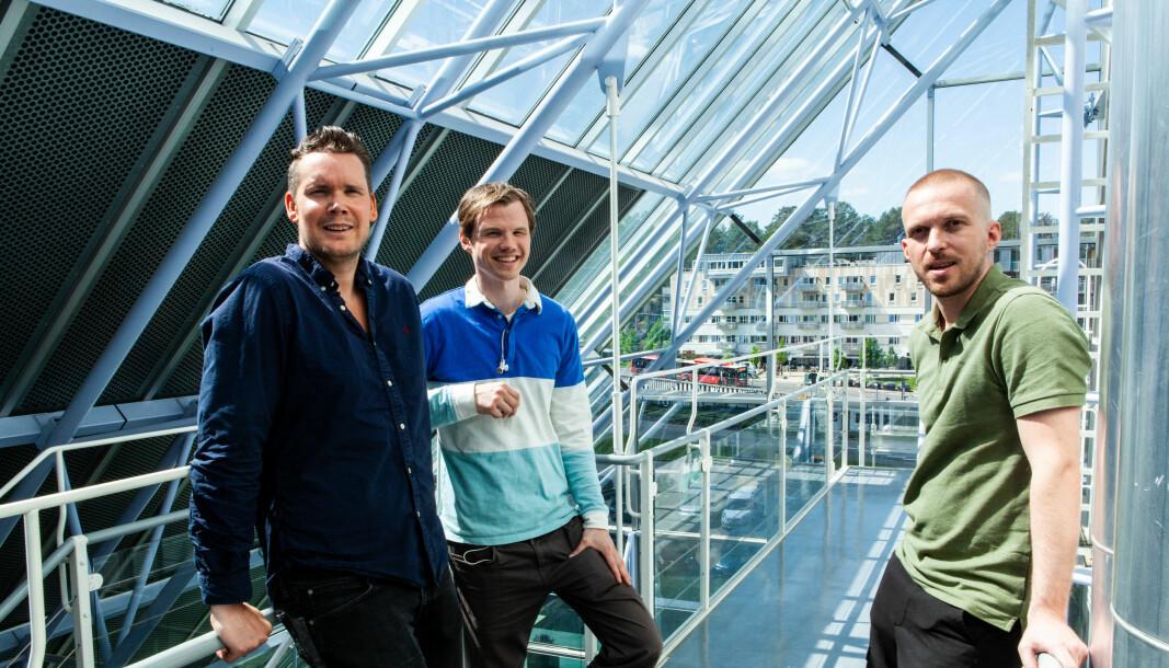 Kristian Løkken, daglig leder og gründer i Oblinor (t.h.) og hans partnere Bjørn Kristian Stadheim og Are Hvalbye har fått en god start på 2021.
