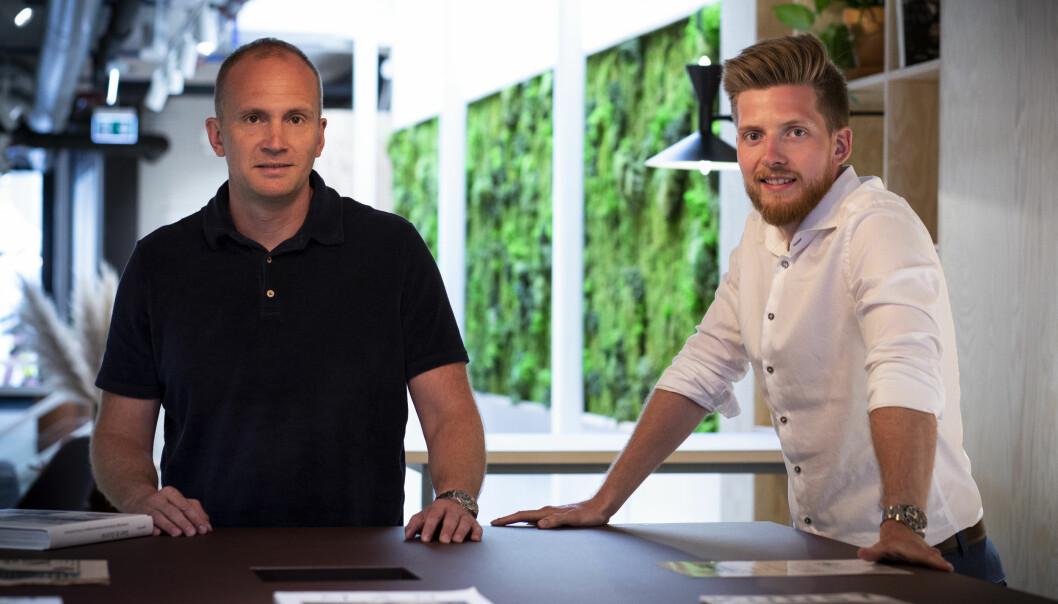 CEO Martin Nerstad (t.v.) og CTO Ronald Griffin i SEEN