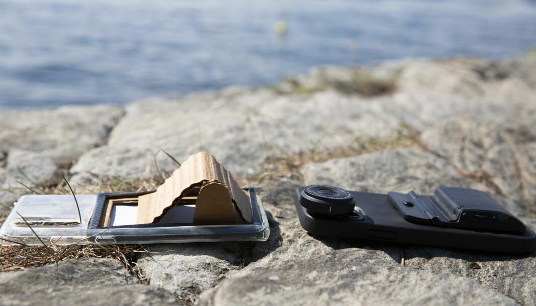 Victor Henning og Fjorden har utviklet et mobilkameragrep med ulike funksjoner som man vanligvis finner på et speilreflekskamera, men det begynte med en prototype i papp.