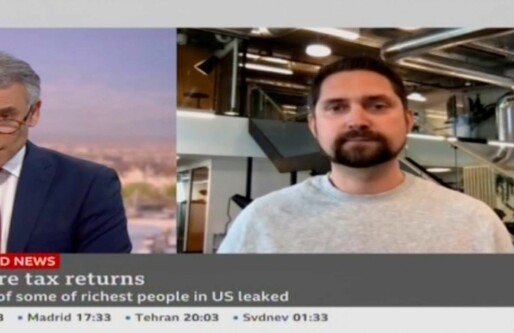 Her diskuterer Karl Munthe-Kaas norsk formuesskatt og gründerskap foran 110 millioner seere på BBC
