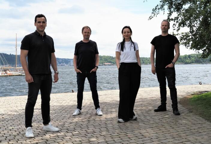 Snö-teamet, f.v. Max Samuel, Magne Uppman, Kremena Tosheva og Teodor Bjerrang.
