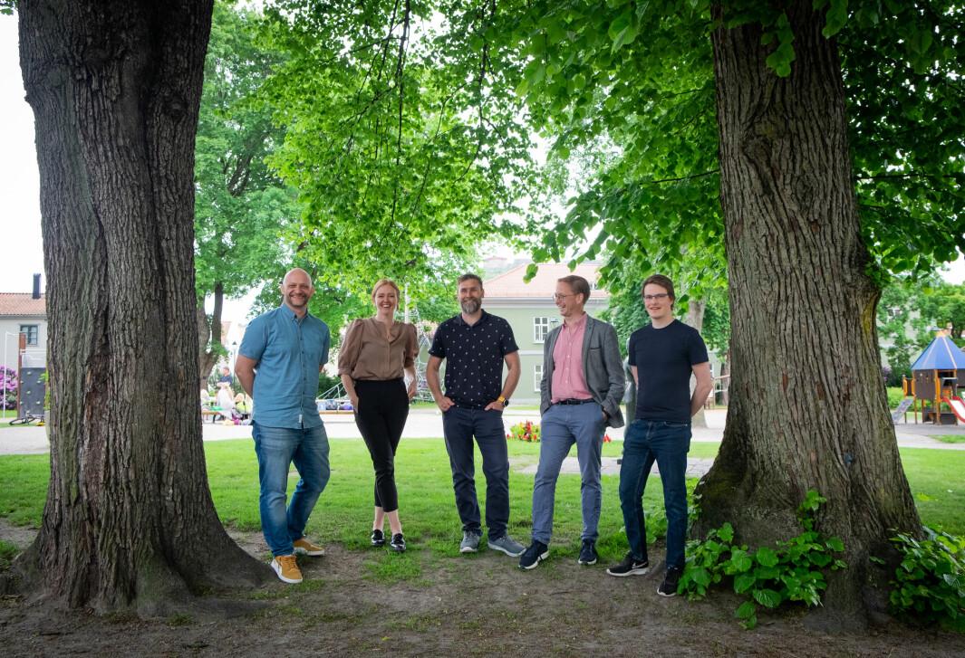 Leid-teamet vokser stadig. Her ved Thommy Tellefsen, Caylie Mørck, Andreas Bukholm, Håkon Steinbakk og Alexander Lyon.