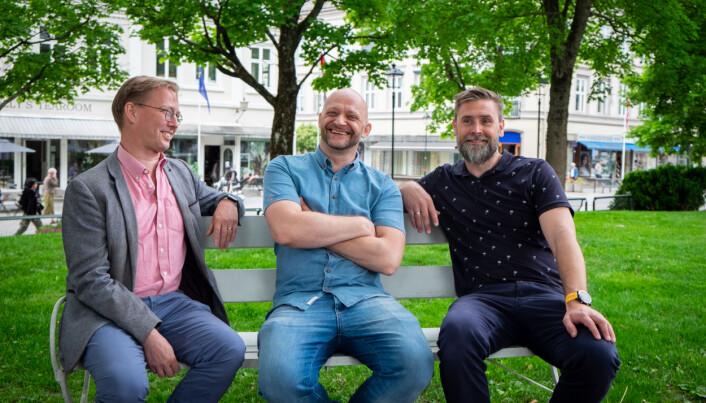 Håkon Steinbakk, Thommy Tellefsen og Andreas Bukholm utgjør Leids gründerteam.