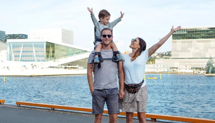Tarjei Espolin Johnson og Nina Elisa Richter Eriksens sønn Leon på fire år, er ifølge pappa sjefstester i Minimeis.