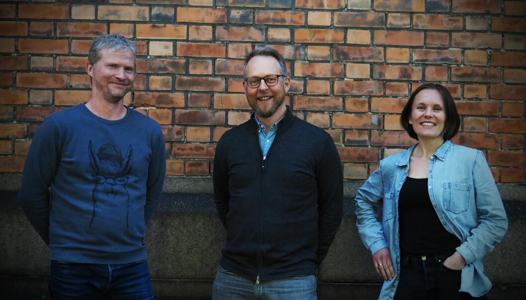 Espen Ellevseth, Erik Harstad og Guro Sollien Eriksrud utgjør Visonomic-teamet.