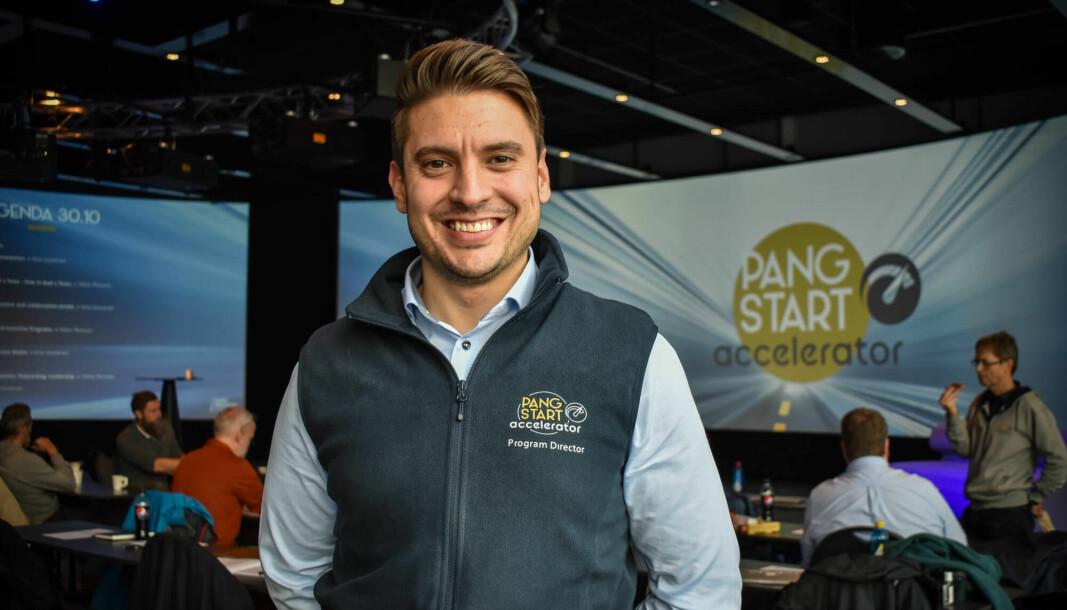 Lorenzo ruscelli under akseleratorprogrammet til Smart Innovation Norway, som tidligere het Pangstart, men som nå heter Launchpad