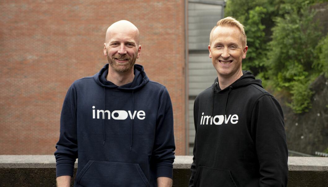 Imove-gründerne Gunnar Birkenfeldt og Hans Kristian Aas.
