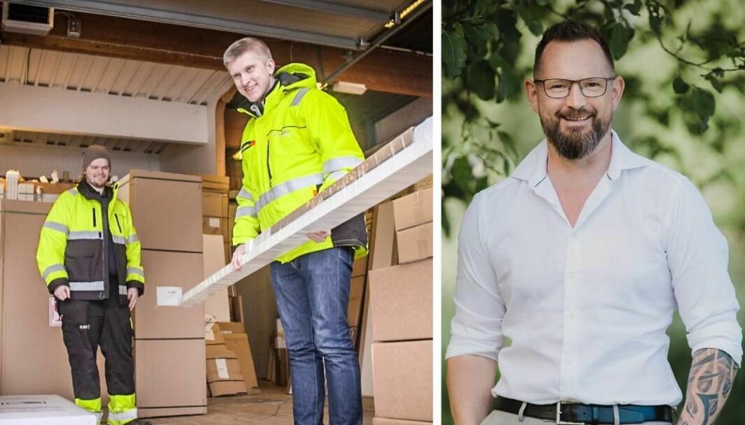 Ståle Bjørdal (til høyre) etablerte GF Logistikk for over 20 år siden. Nå er han en aktiv investor i Zendera. Gründer Kim Iversen i midten.