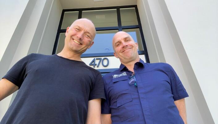Kristian Bye (t.v.) erstattes av Alexander Bergo som leder av Innovasjon Norge sitt kontor i Silicon Valley.