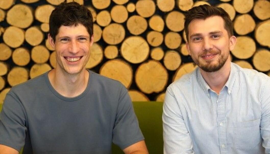 Gründerduoen Manuel Schweikle (t.v.) og Armend Gazmeno Håti (t.h.) satser hardt på bioteknologiselskapet ClexBio.