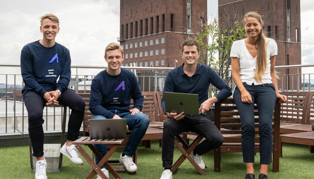 Fra venstre; Nicolai Vedvik (Head of Adline Services), Carl-Wilhelm Vedvik (Daglig leder), Mike Damnjanovic (Head of Sales), Heidi Johansen (Customer Success Manager).