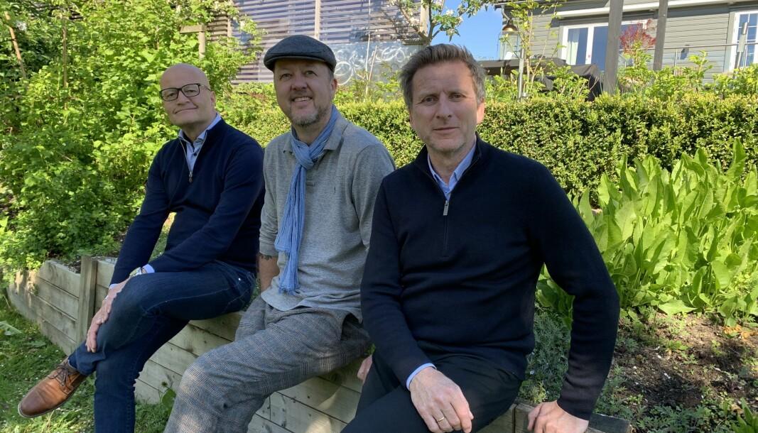 Daglig leder Stig Jacobsen, stjernekokk Trond Moi, som er med som rådgiver i startuppen og styreleder Asgeir Hartveit