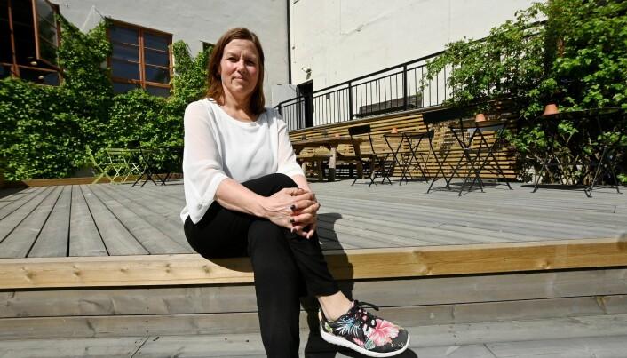 Torhild Andersen uten for Fabrikken i Lillehammer. Hun leder også Co-working Norge