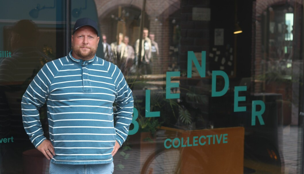 Jørgen Schrøder Aanonsen er styreleder i startuphubben Blender i Fredrikstad. Som de aller fleste steder, ser de en oppblomstring av startups i byen som trenger tak over hodet