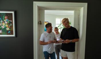Axel Hunter, Caroline Hunter og Espen Myklebust diskuterer Astat-appen.