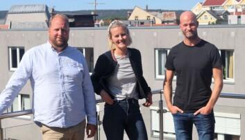 Konseptutvikler Jørgen Schrøder Aanonsen, daglig leder Ina Tangen og styreleder Sander Grundvig i Kengle