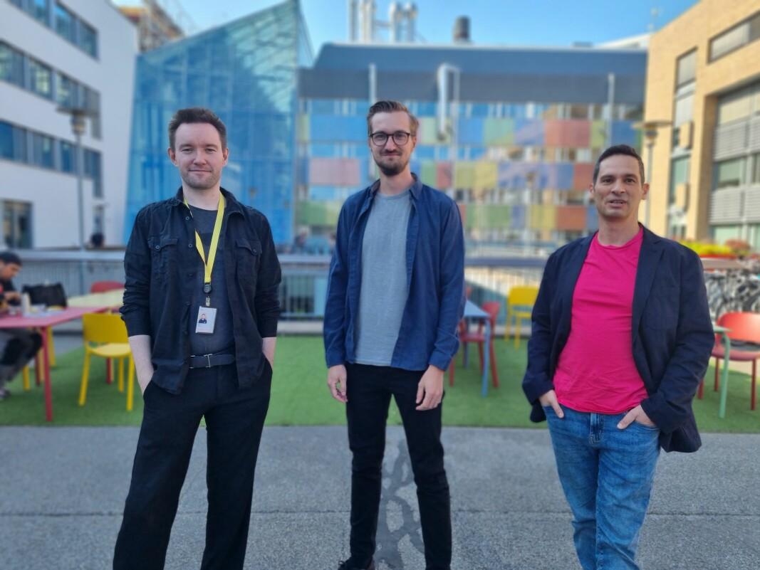 Gründertrioen bak 3D-startupen Sloyd, f.v. Øyvind Sørøy, Andreas Edesberg og Avi Latner, møttes fysisk for første gang denne uken.