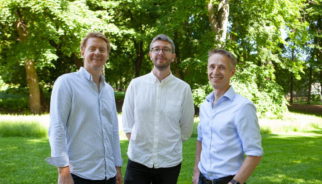 Even Kjelland, John Modin og Harald Olderheim i Glint Solar