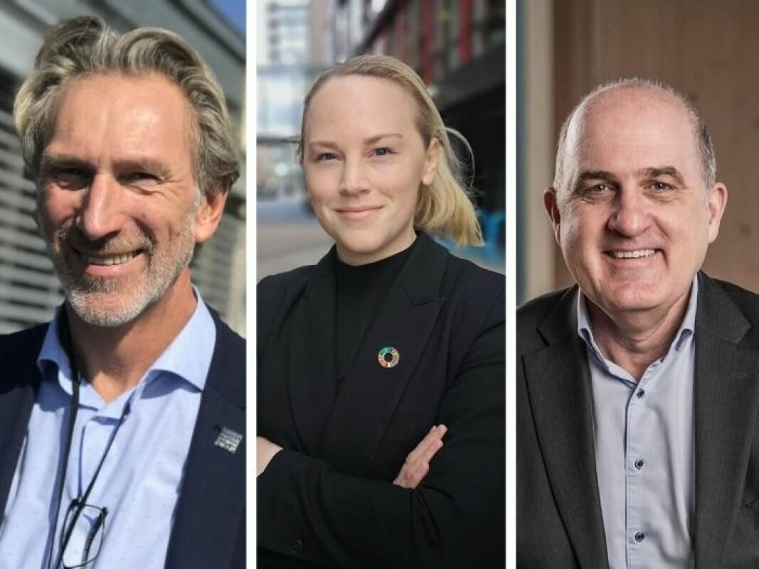 Håvard Lindtvedt i Nordea, Ida Marie Christensen i Danske Bank og Tore Medhus i SR-Bank