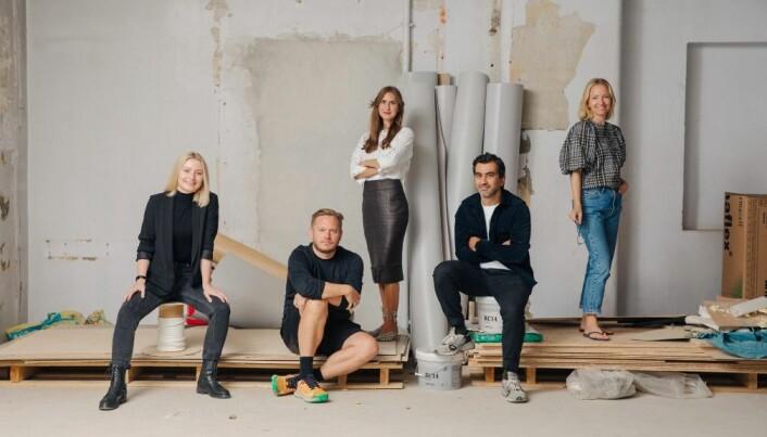 EY Doberman i Oslo ved Behnam Farazollahi (daglig leder), Dag-Henning Brandsæter (kreativ leder), Helene Edvardsen (produsent) og Maren Sofie Sivertsen (designer).