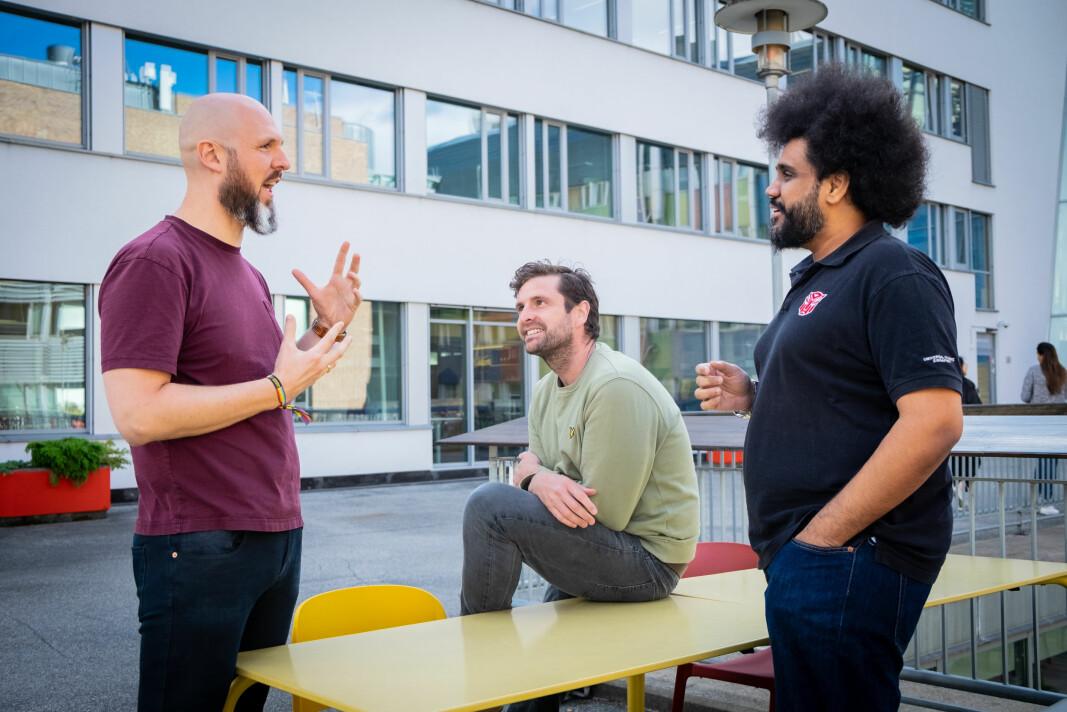 Joymo-teamet, her ved Marius Larsen (CFO og COO), Mike Emery (CEO) og Rajesh Balachandran (Head of Product).