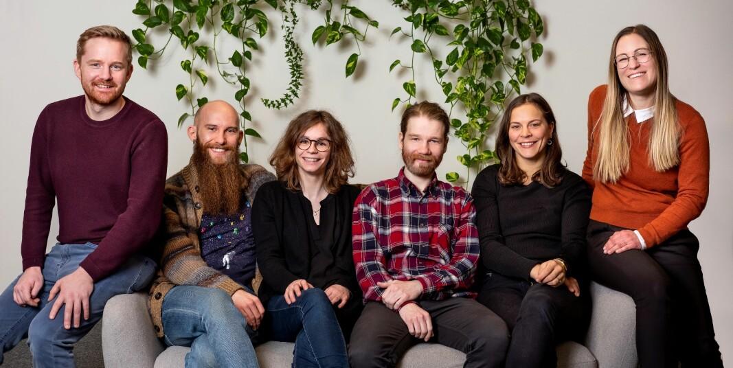 Assitech-teamet f.v.: Halvor Wold, Daniel Ekelund, Claire Degail, Magnus Nystad, Ingrid Lonar, Simone Englert.