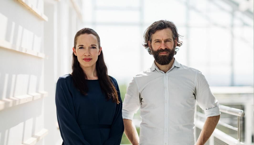 Gründere av NoMy, Ingrid Dynna og David Andrew Quist.