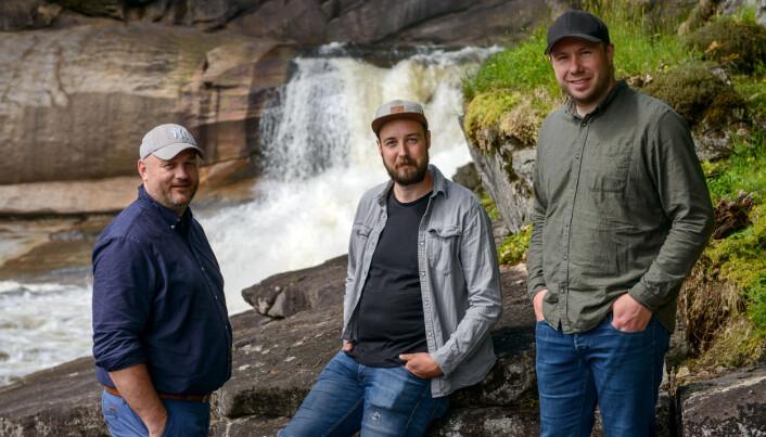 LOKALE GRÜNDERE: Frode Aagedal, Scott Basgaard og Morten Hauan.