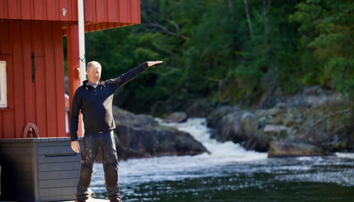 HØY VANNSTAND: Glenn husker godt hvor mye vann det var på det verste i 2015.