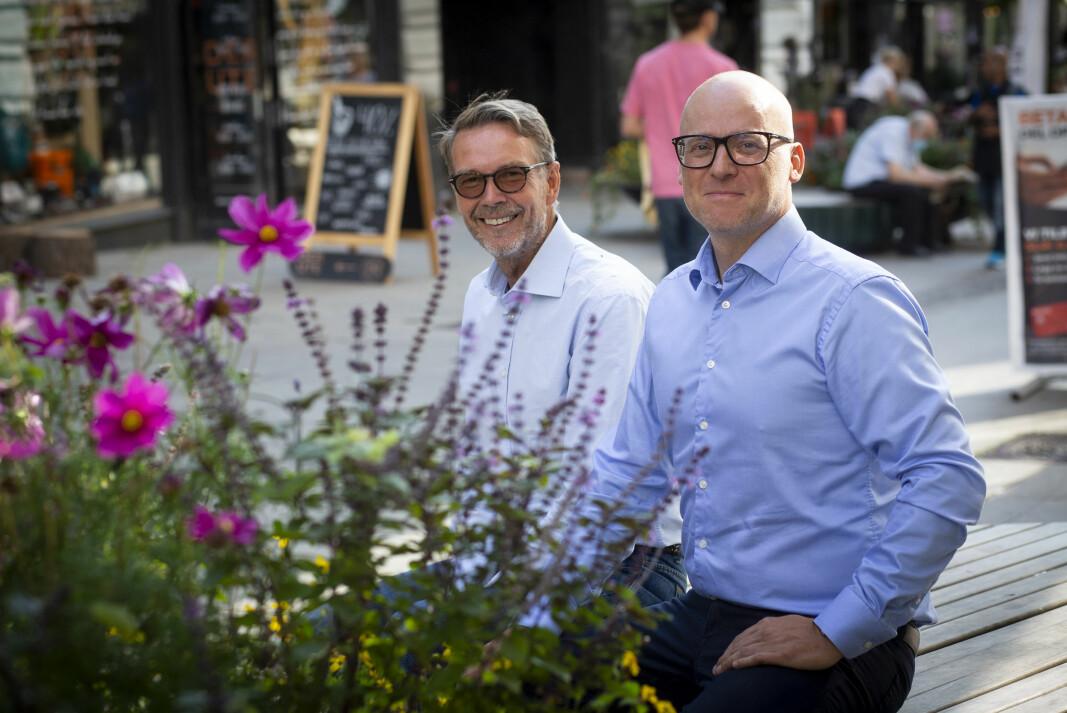 Per-Arna Solberg og Andreas Øwre i Techpros har lenge hatt tanken om å investere sweat for equity i startups, men det er først det siste året de har kommet igang. Så lagt har det vært bra