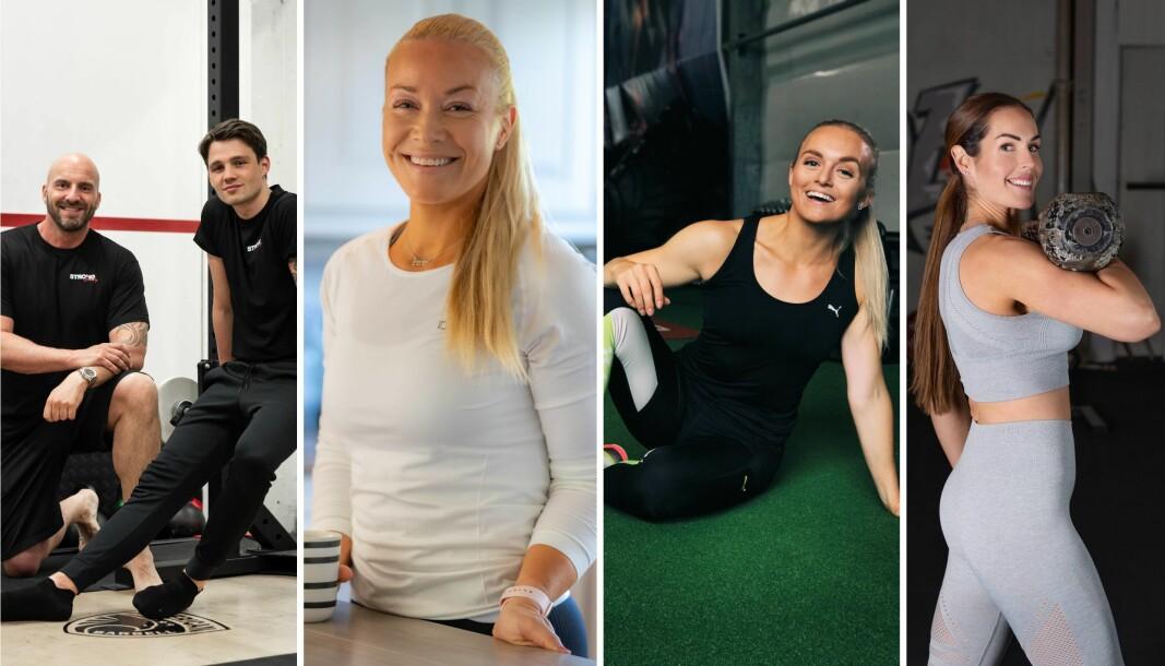 Daglig leder i Strongbody Gunnar Jacobsen, proffbokser Anders Eggan, Kristine Weber, Kristine Birkelund og Maren Erdvik