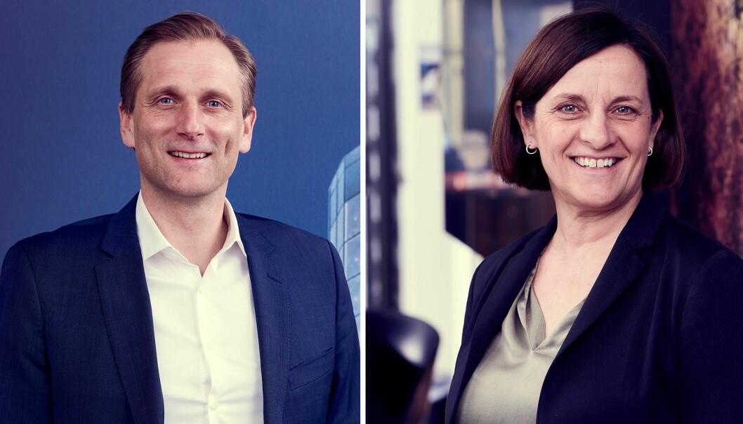 Konsernsjef Petter Hellman og Chief Digital Officer Cathrine Klouman i Møller Mobility Group.