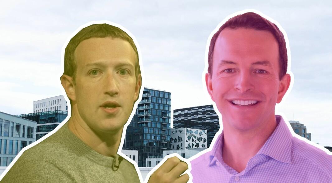 Mark Zuckerberg (t.v.) er en av mange tech-profiler som satser pengene sine på investeringsselskapet Iconiq, hvor Will Griffith er partner.