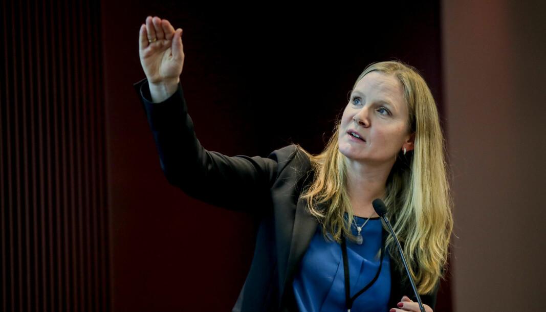 Mari Sundli Tveit, administrerende direktør i Forskningsrådet, vil ikke gi fra seg STUD-ENT til Innovasjon Norge.