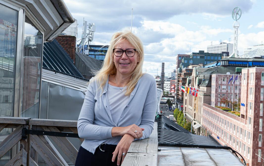 Norske Marit Bø Bornstein leder Invidem fra kontorene ved Norrmalmstorg, midt i sentrale Stockholm.