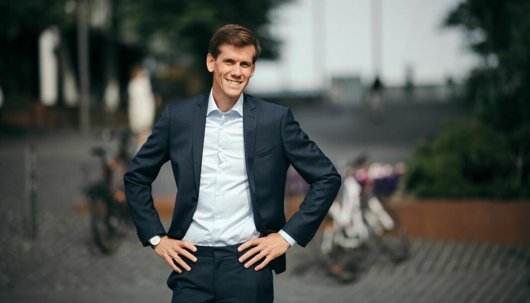 DNBs Benjamin Golding er svært fornøyd med det første salget av et av DNB Venture-selskapene.