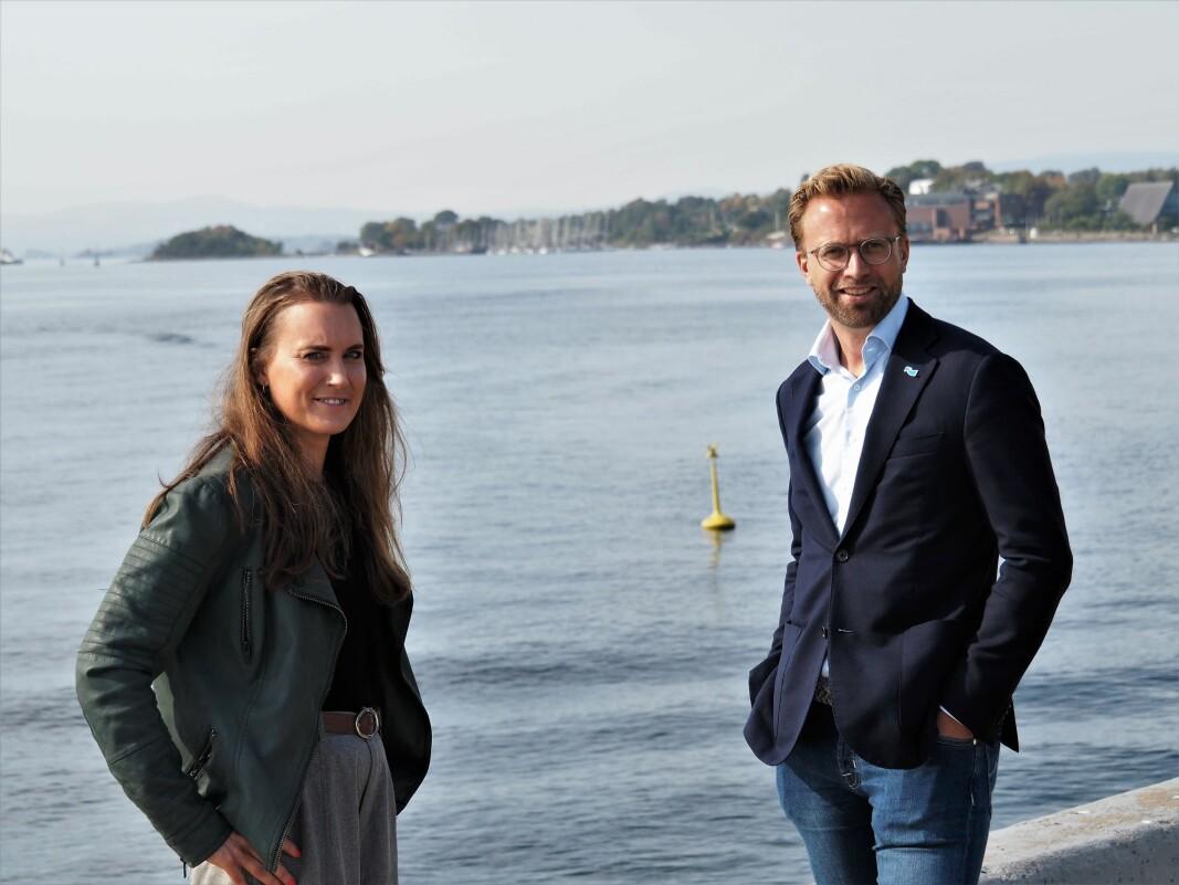 Medgründer Catharina Frostad i Clean Sea Solutions er fornøyd med Startoff-programmet til regjeringen og moderniseringsminister Nikolai Astrup.
